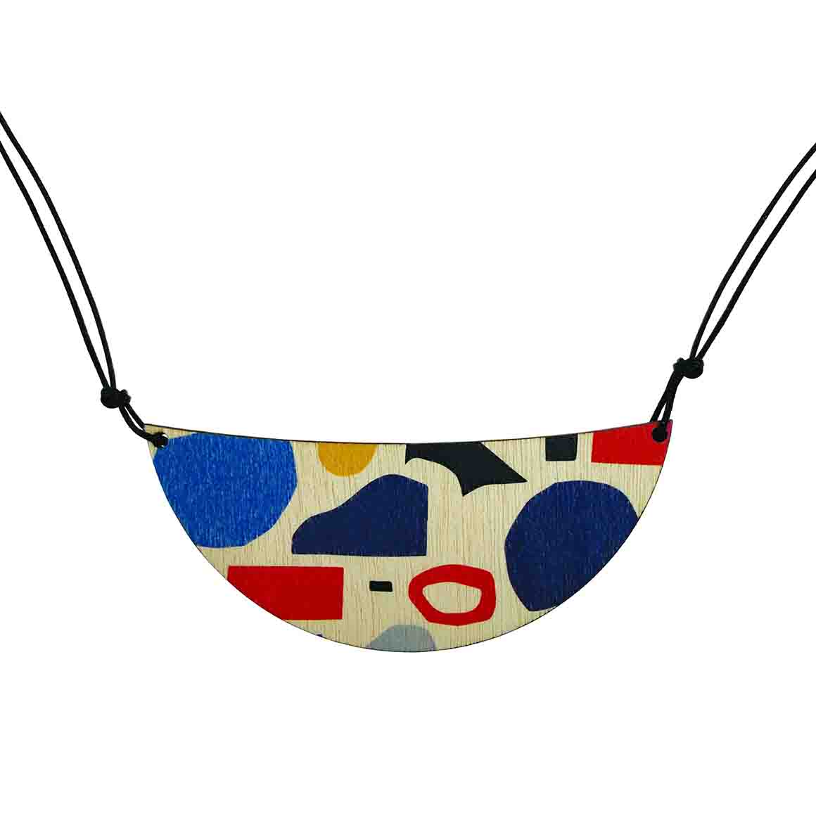 Abstract shapes pattern necklace   Trada Marketplace