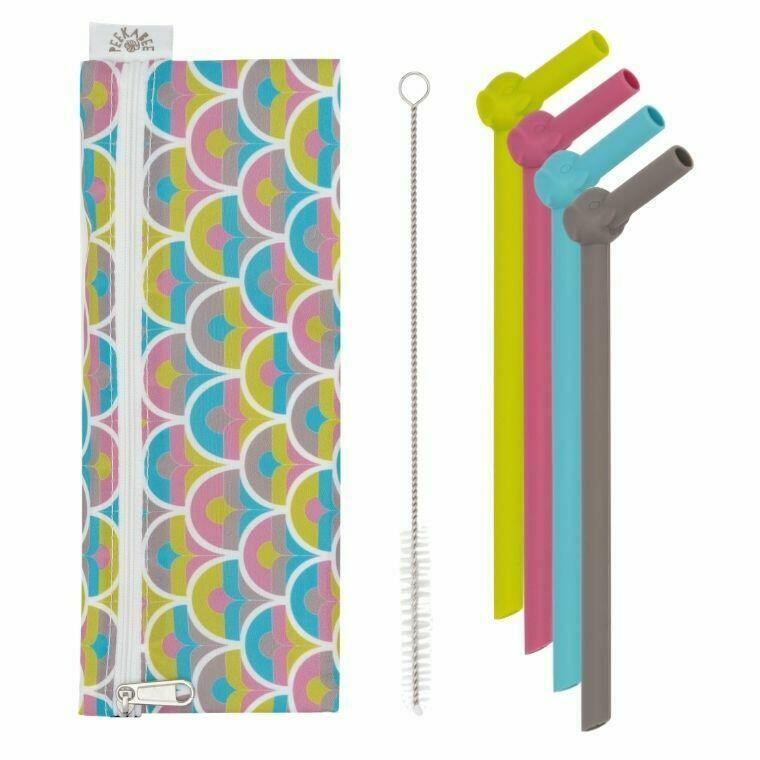 Silicone Straw Set 'SILISTRAWS' with Waterproof Pouch   Trada Marketplace