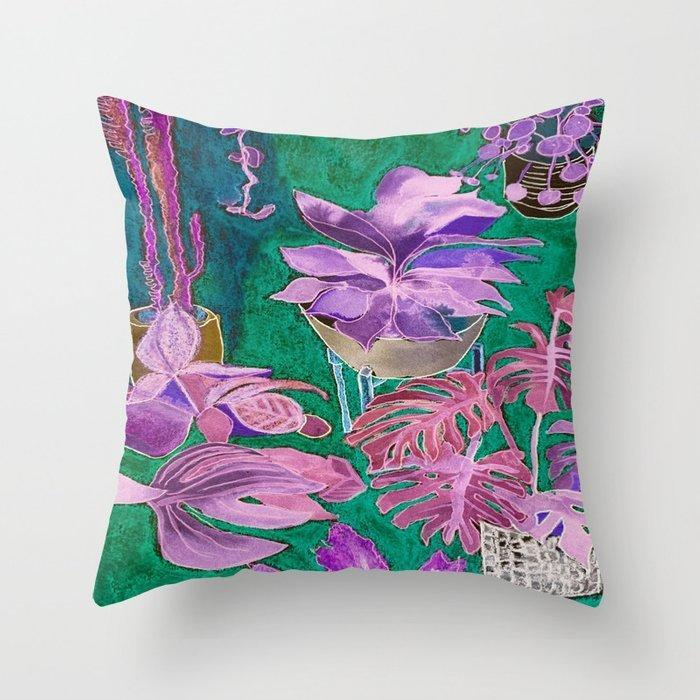 Indoor Jungle 3 Throw pillow  | Trada Marketplace