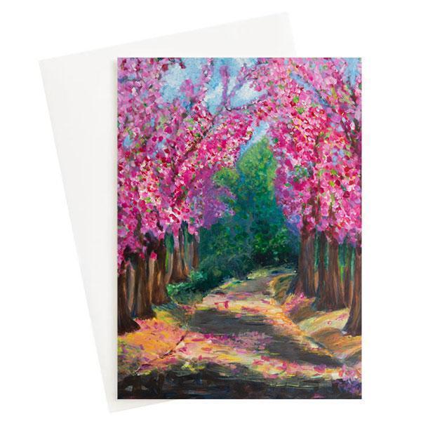 Cherry Blossom Greeting Card   Trada Marketplace