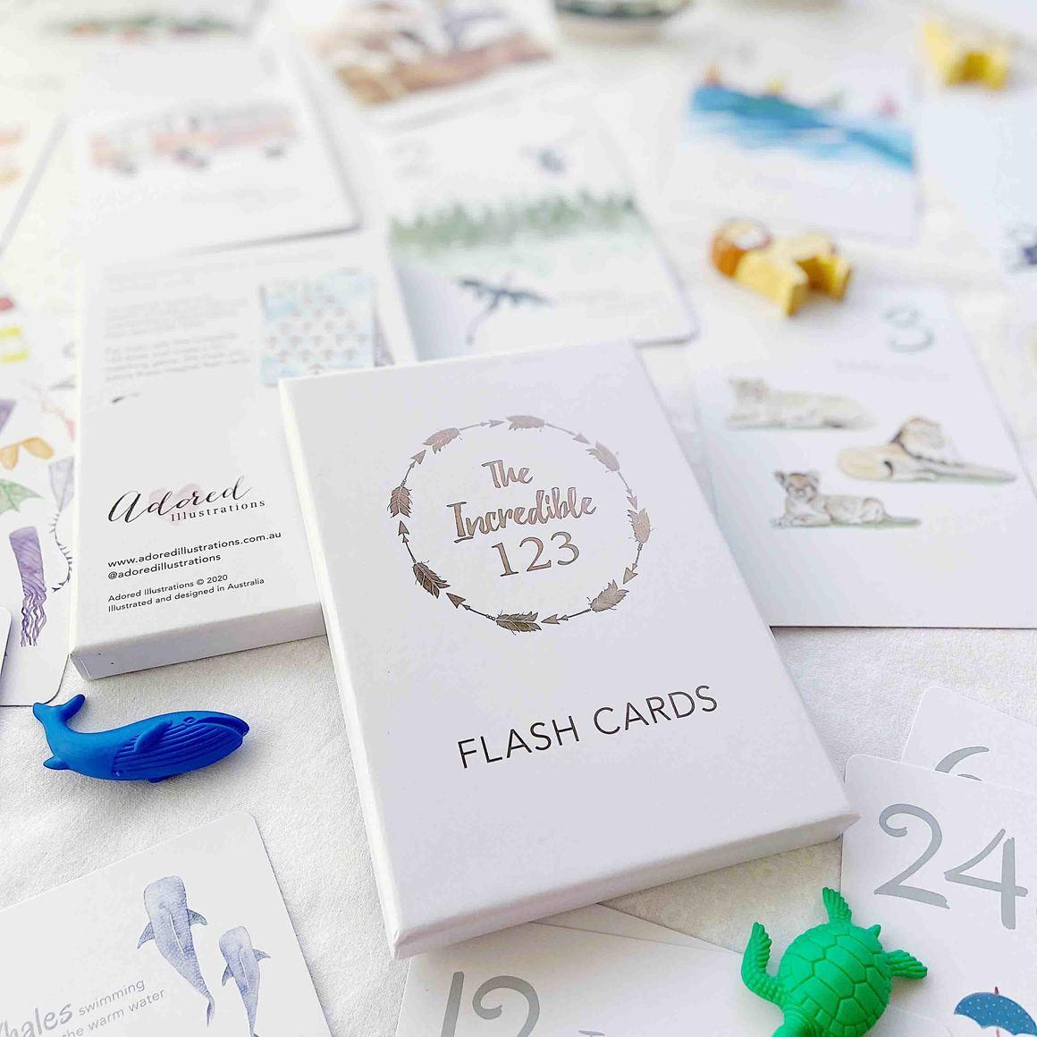 The Incredible 123 Flash Cards | Trada Marketplace