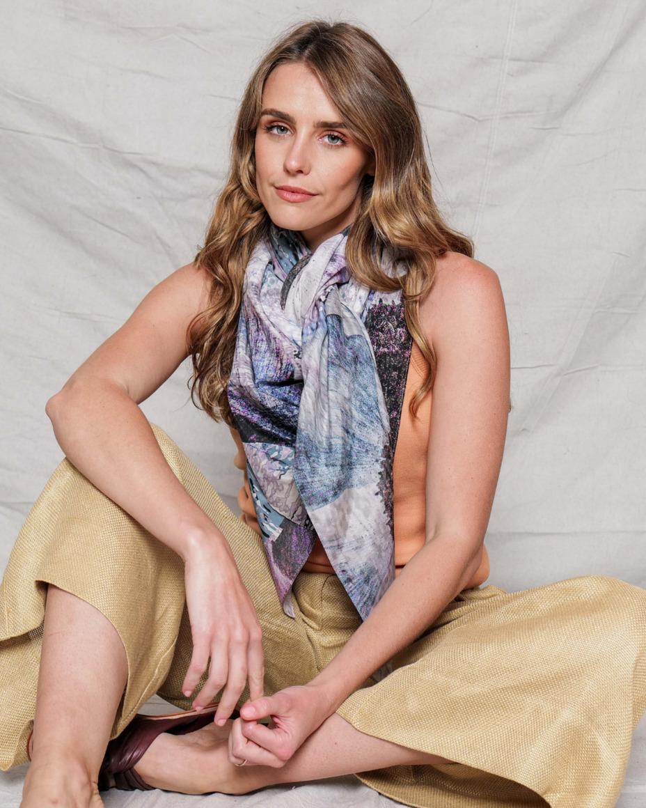 Silk-cotton scarf | LEGERITY | Trada Marketplace