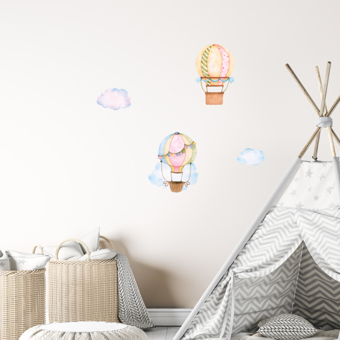 Fabric wall decals - Hot air balloons   Trada Marketplace