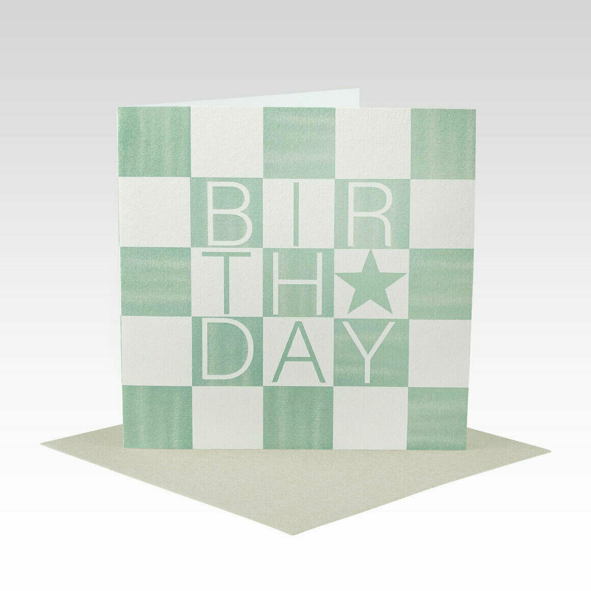 HB084 – Mint Check Birthday Card   Trada Marketplace