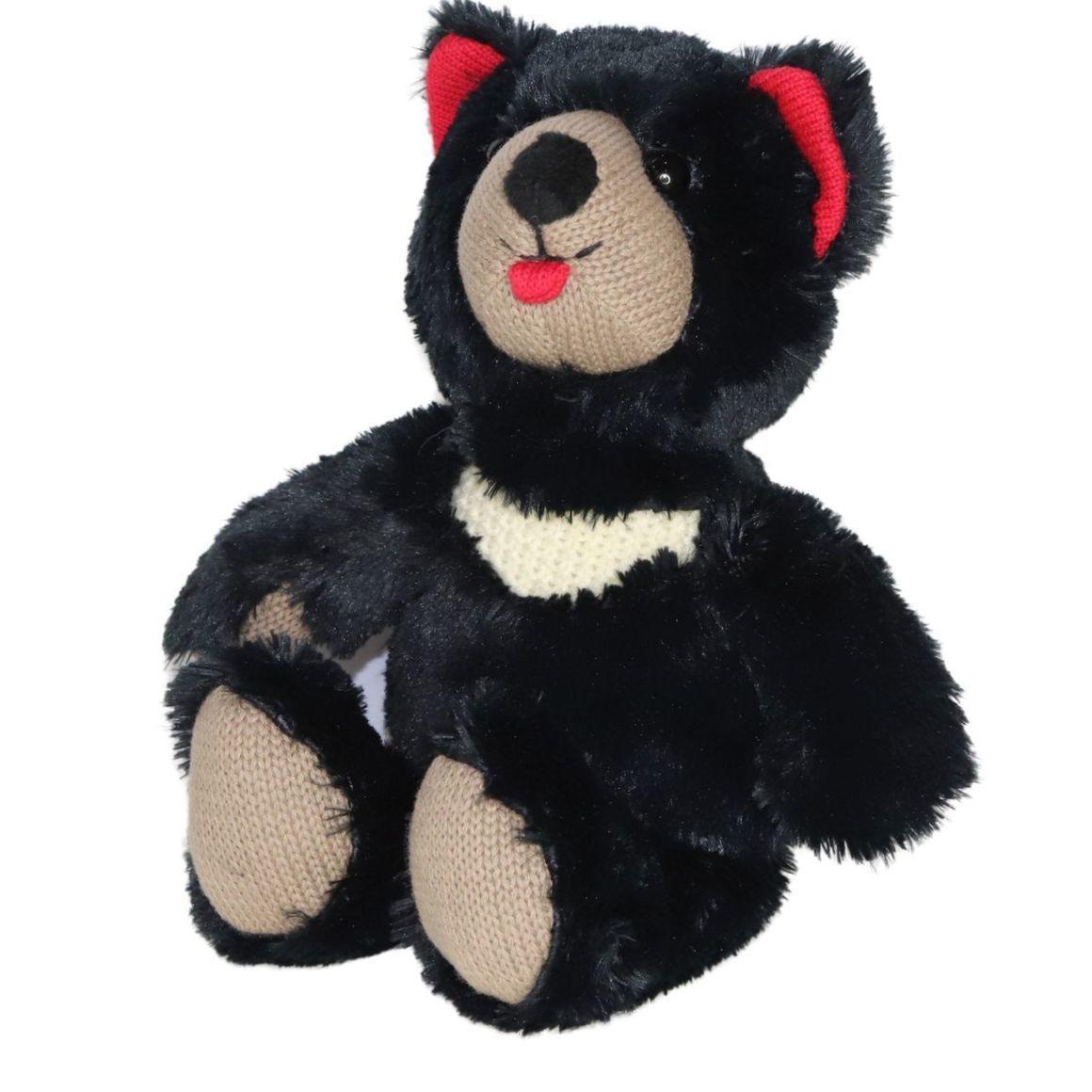 Plush Toy Tassie Devil - Black/Red    Trada Marketplace