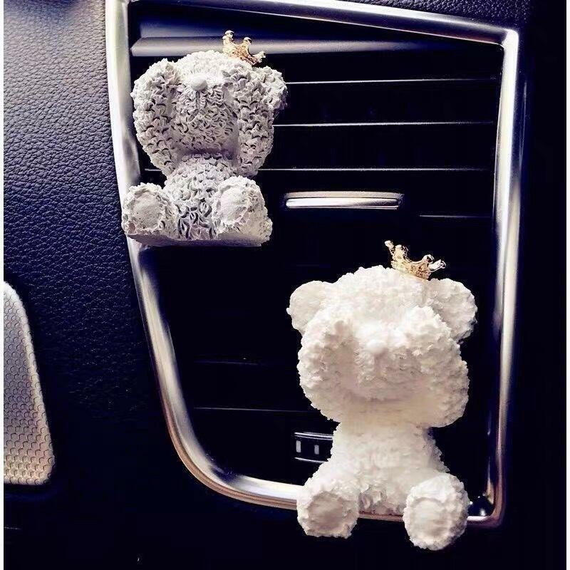 Aroma Stone Car Air Freshener( White Teddy Ears  Hided ) | Trada Marketplace