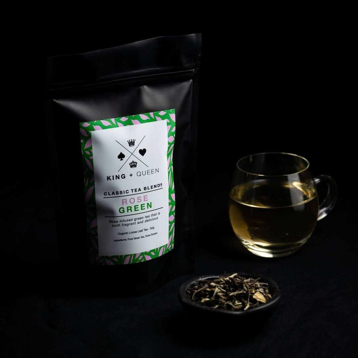 Rose Green - Organic Rose Infused Green Tea   Trada Marketplace