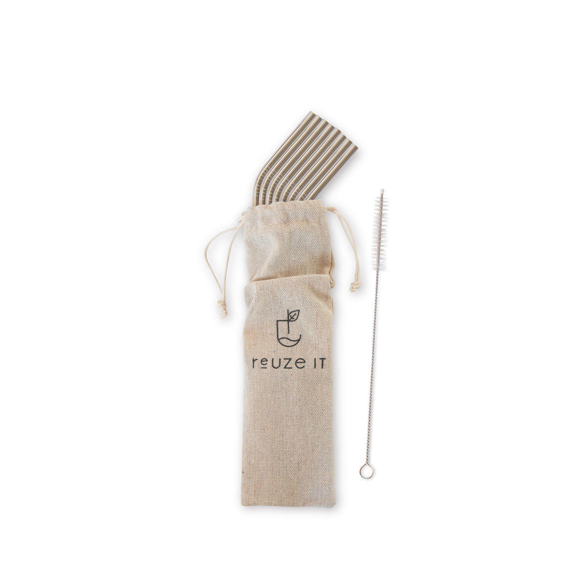 Stainless Steel Straws Silver - 8 Pack (Bent)   Trada Marketplace