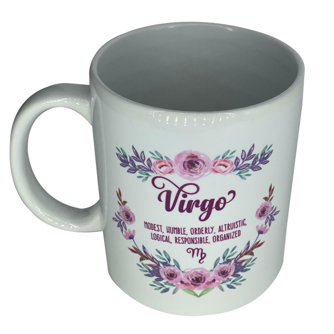 Star Sign  Floral Coffee Mug   Trada Marketplace