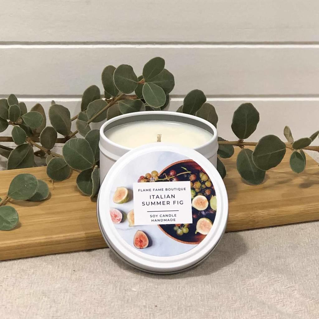 Italian Summer Fig Candle Tin   Trada Marketplace
