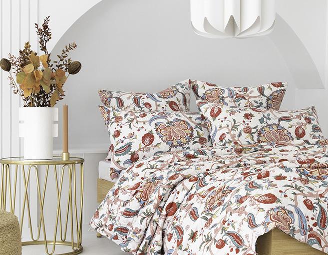 White / Black Floral Chintz Cotton Pillowcase / Euro   Trada Marketplace