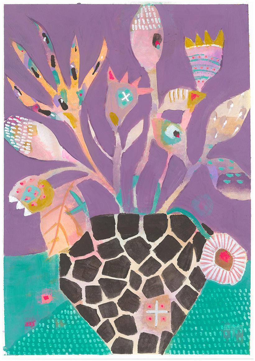 Giraffe Vase Card | Trada Marketplace