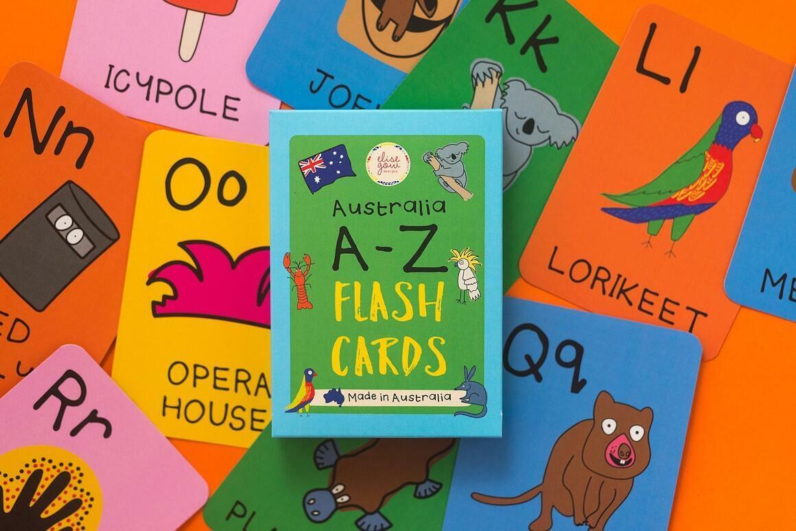 Australia A-Z Flash Cards | Trada Marketplace