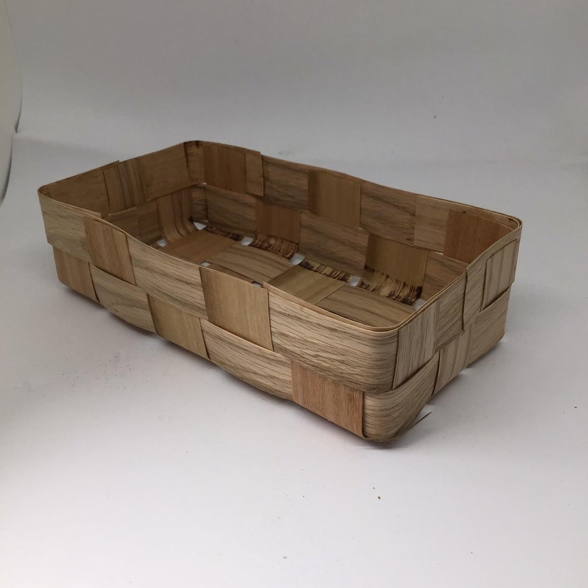 Double Hamper (10x20x6cm) woven veneer box, hamper, basket, gift box | Trada Marketplace