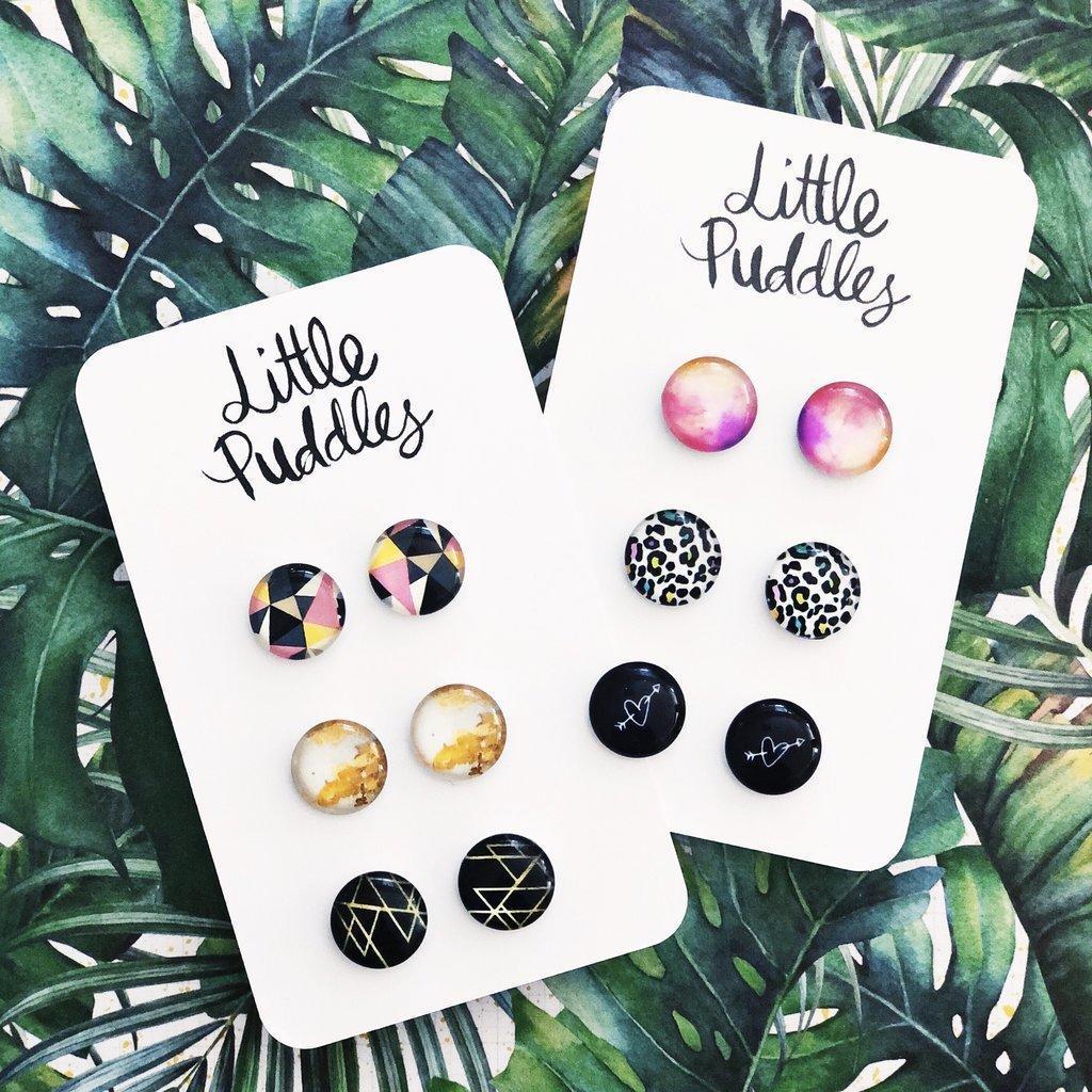 Earring Studs - 12mm Glass Gift Set | Trada Marketplace