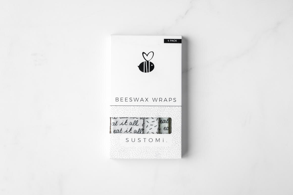 Beeswax Wraps Mixed 4 pack   Trada Marketplace