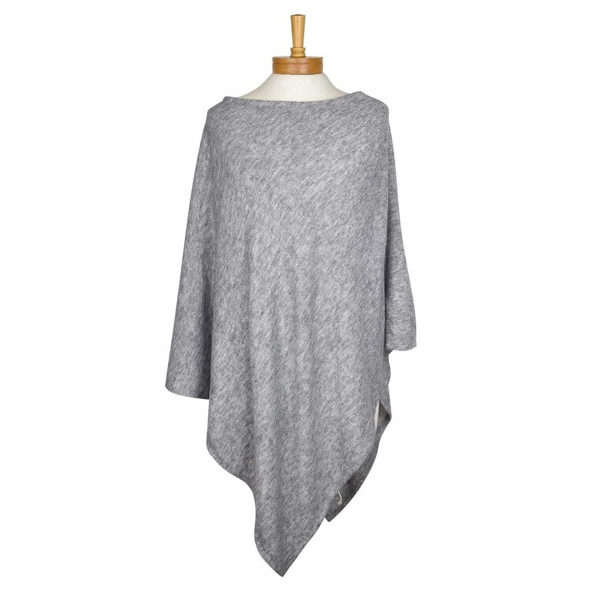 THSP1018: Grey: Pearl Poncho | Trada Marketplace