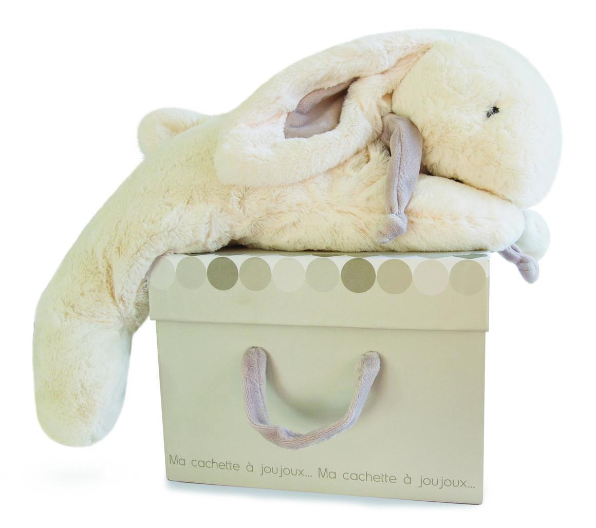 extra large taupe rabbit + gift box 75cm   Trada Marketplace