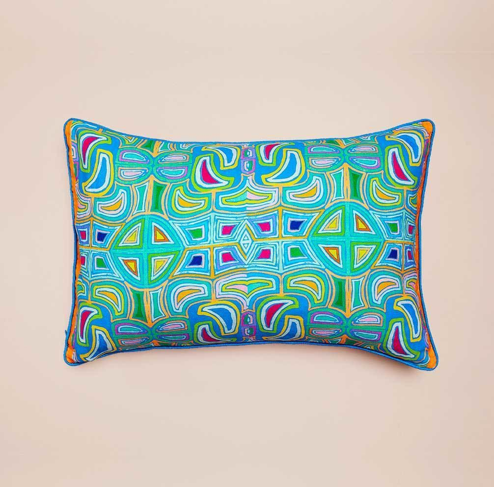 Read Between the Lines II Lumbar Cushion (double-sided)   Trada Marketplace