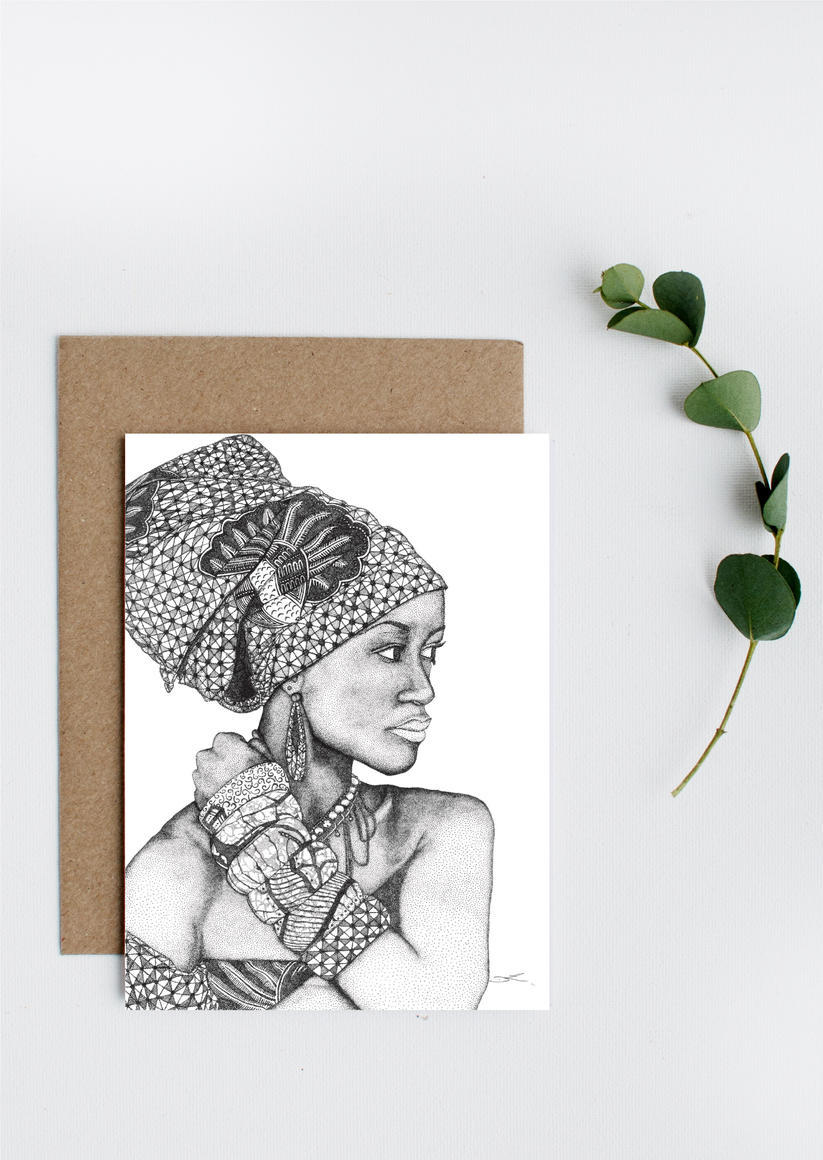 African Goddess Greeting Card   Trada Marketplace