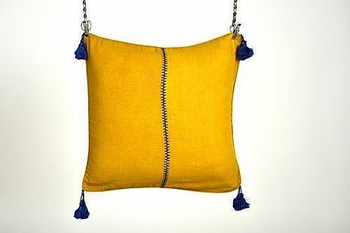 Khadi Tassel Embroidery Cushion | Trada Marketplace