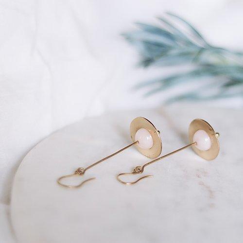 Energising Orbit Rose Quartz Earrings | Trada Marketplace