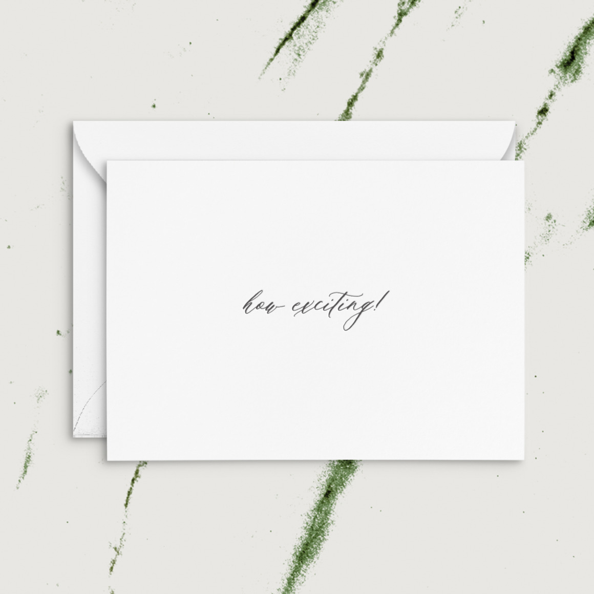 How Exciting!   Letterpress Greeting Card   Trada Marketplace
