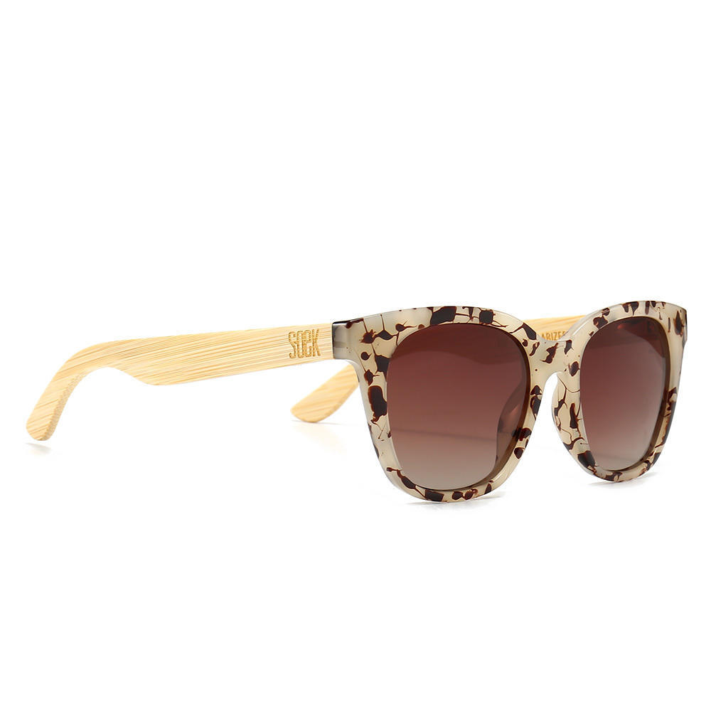 LILA GRACE IVORY TORTOISE  - With Brown Gradual Polarized Lens and Walnut Arms - Adult | Trada Marketplace