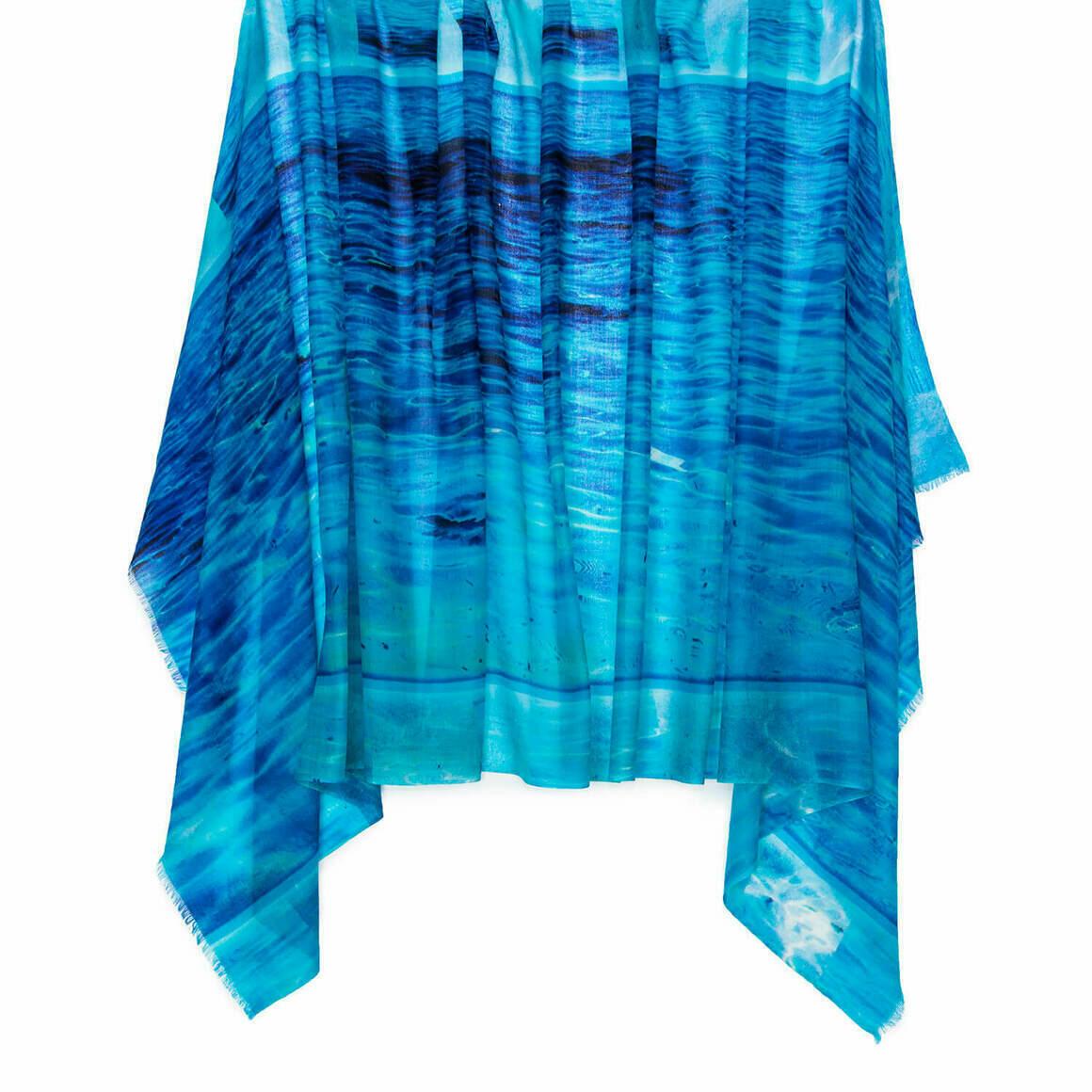 Clear Blue Australian Merino Wool & Cashmere Scarf   Trada Marketplace