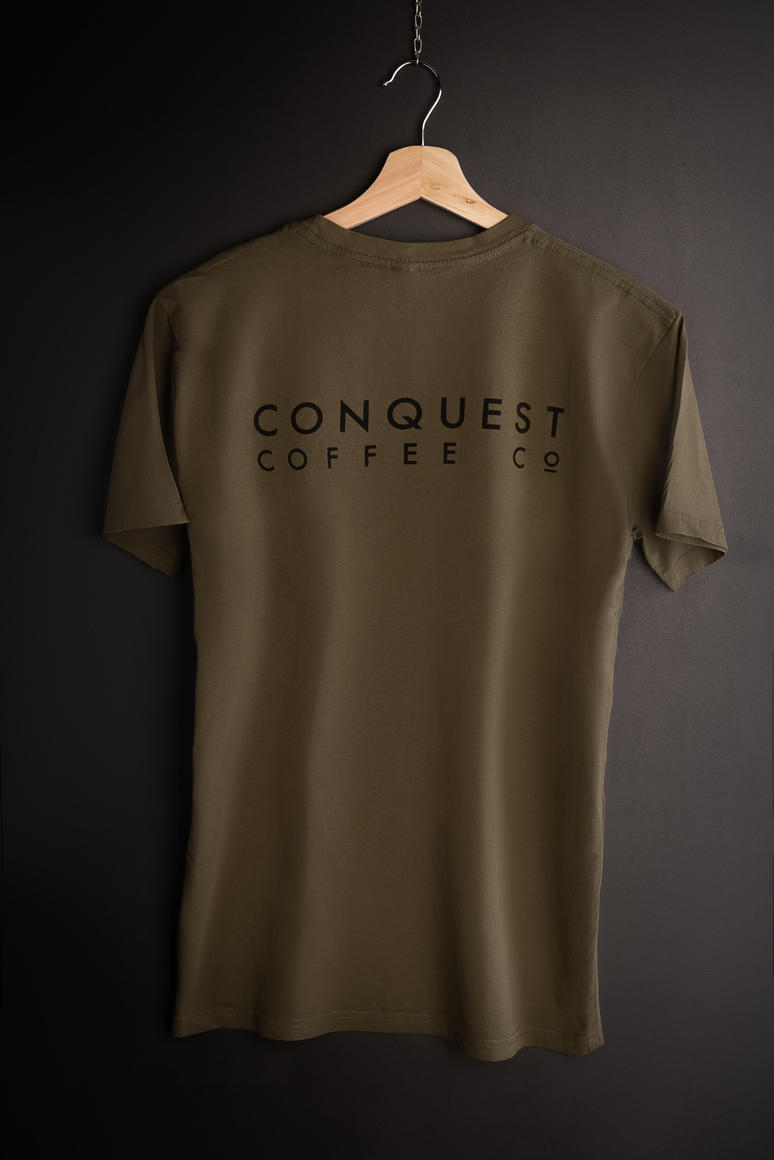 Conquest Coffee T-shirt | Trada Marketplace