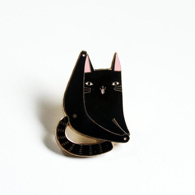 Black Cat Pin   Trada Marketplace