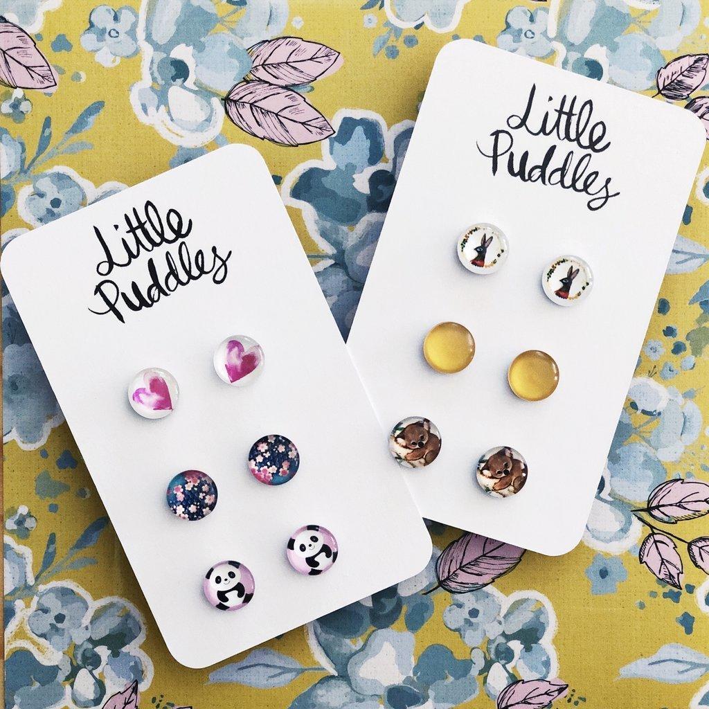 Earring Studs - 10mm Glass Gift Set | Trada Marketplace