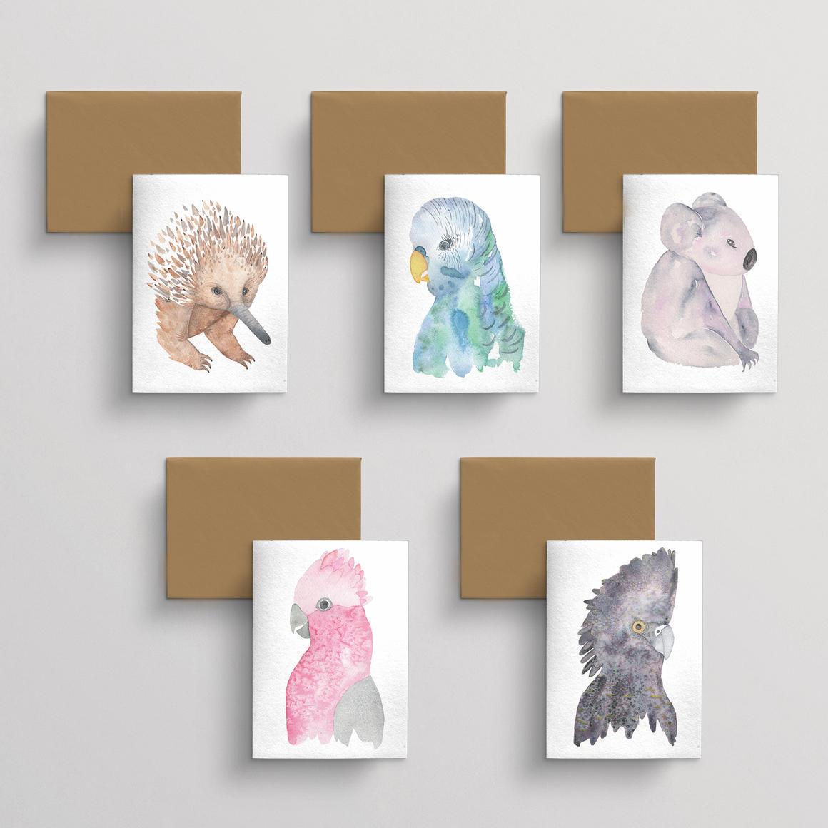Greeting card 10 pack Fauna | Trada Marketplace