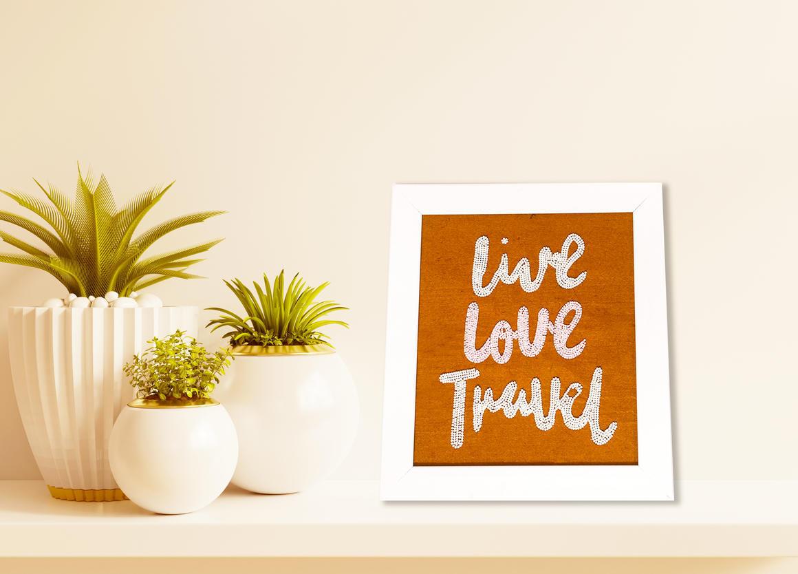 LIVE LOVE TRAVEL Wall Art TAWNY    Trada Marketplace