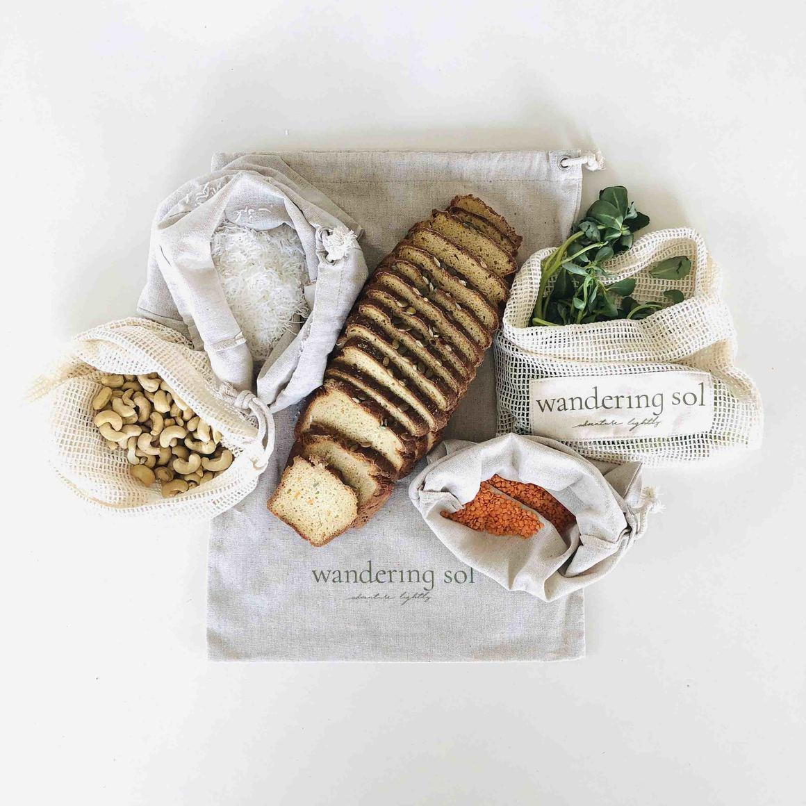 MARKET SOL ESSENTIALS Organic Cotton Produce Bags | Trada Marketplace