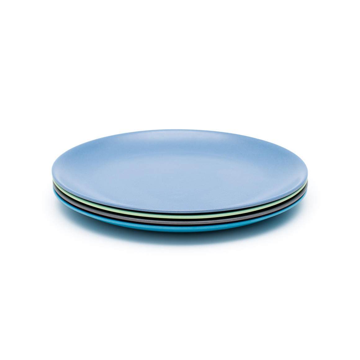Bamboo 4 Pack Of Plates 200mm - Coastal Collection   Trada Marketplace