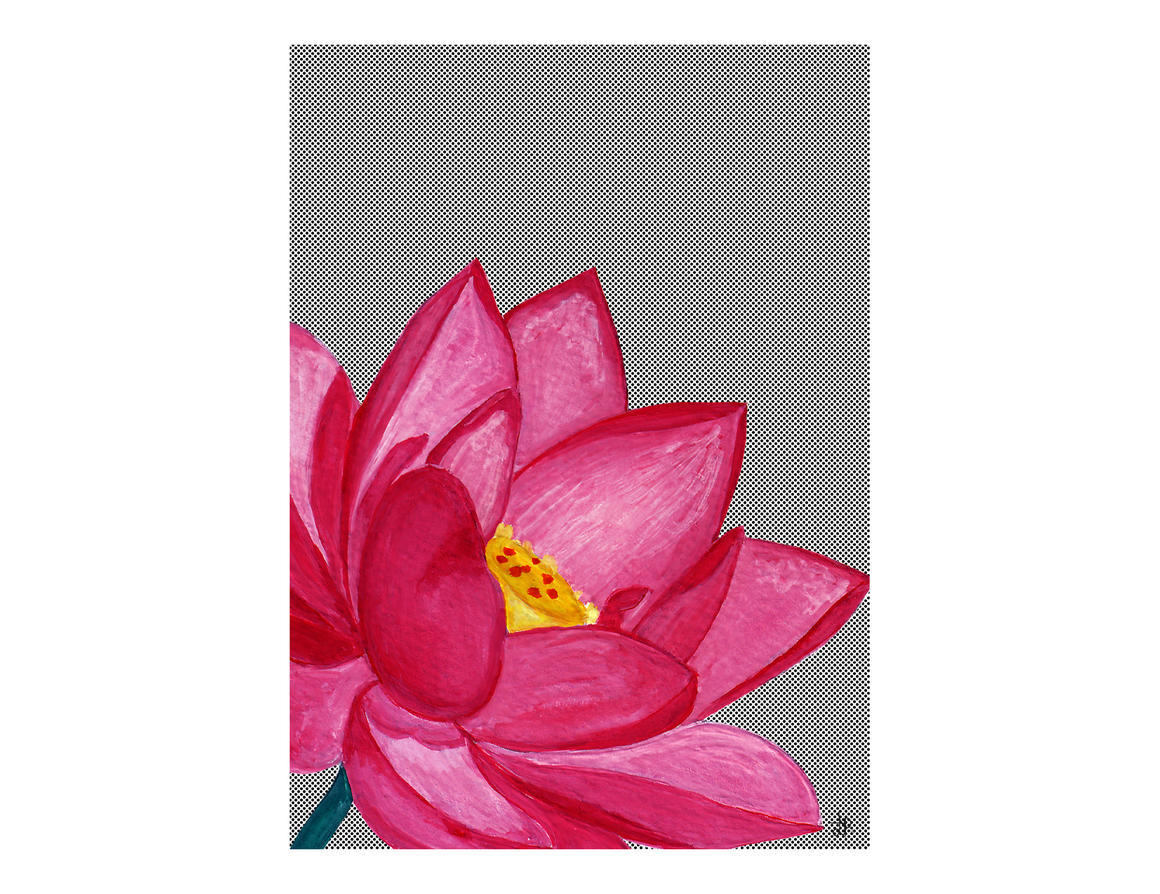 LOTUS FLOWER Artisan A3 Wall Art Print | Trada Marketplace