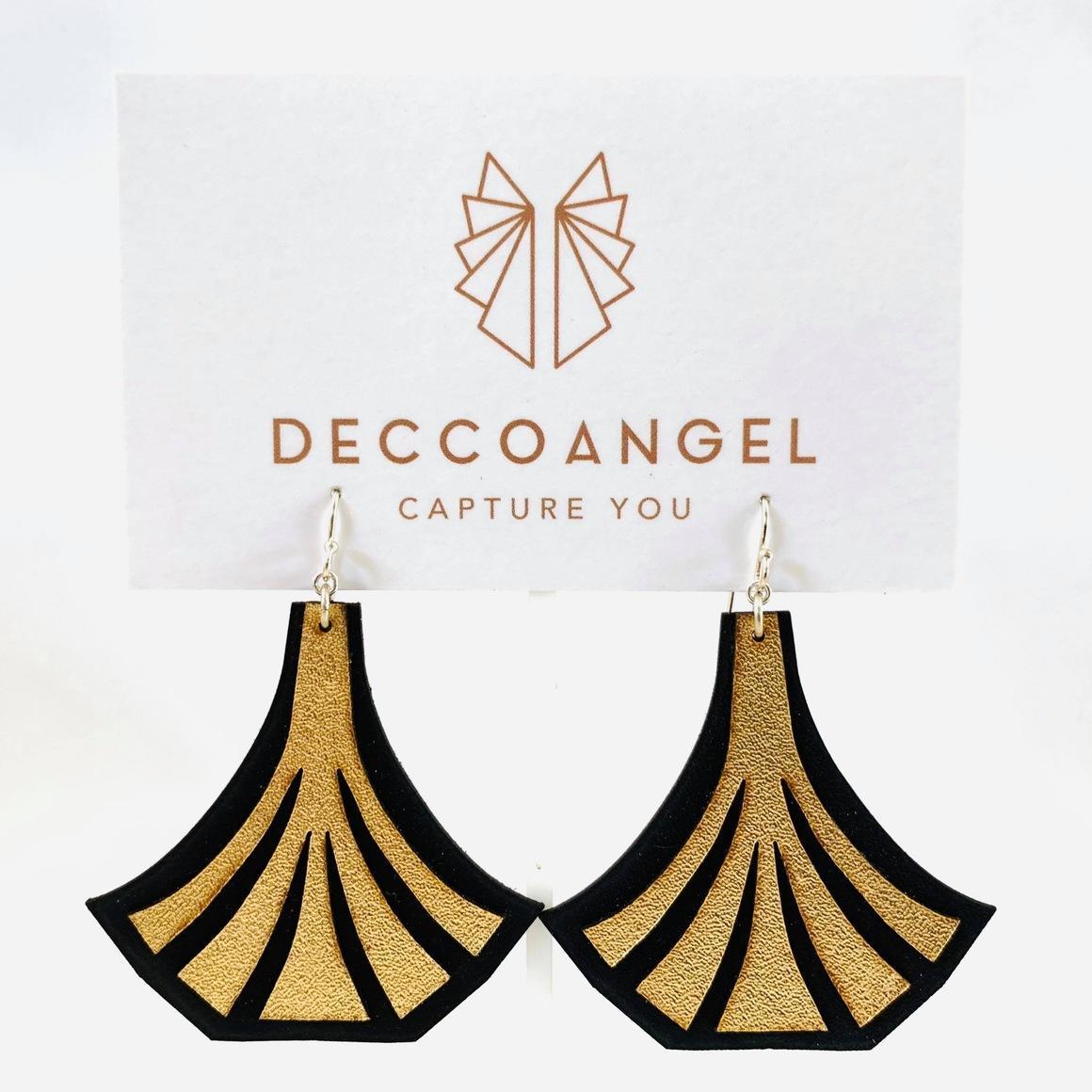 Art Deco Fan Earring Large | Trada Marketplace