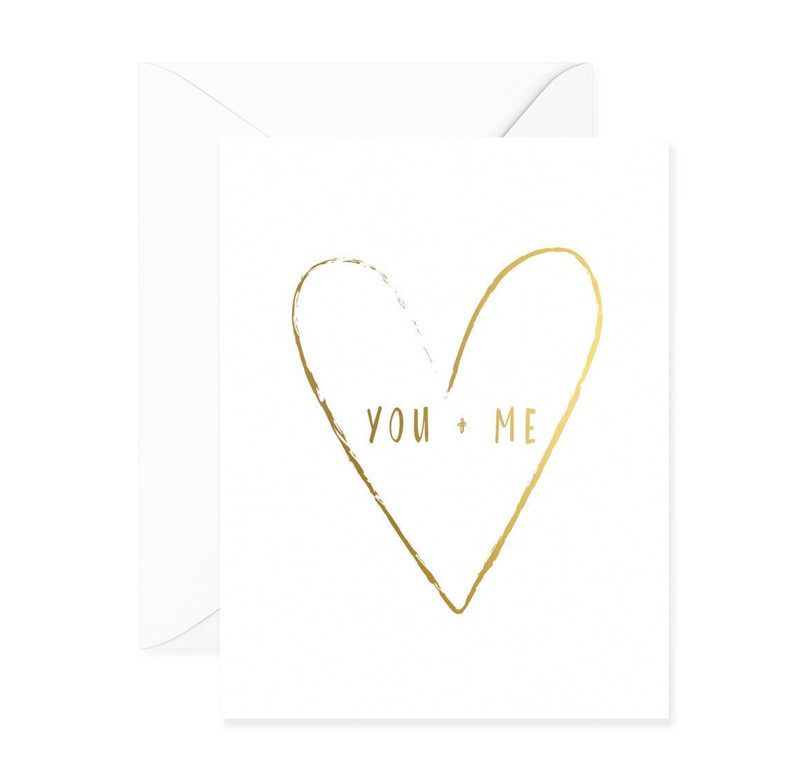You + Me Heart Greeting Card | Trada Marketplace