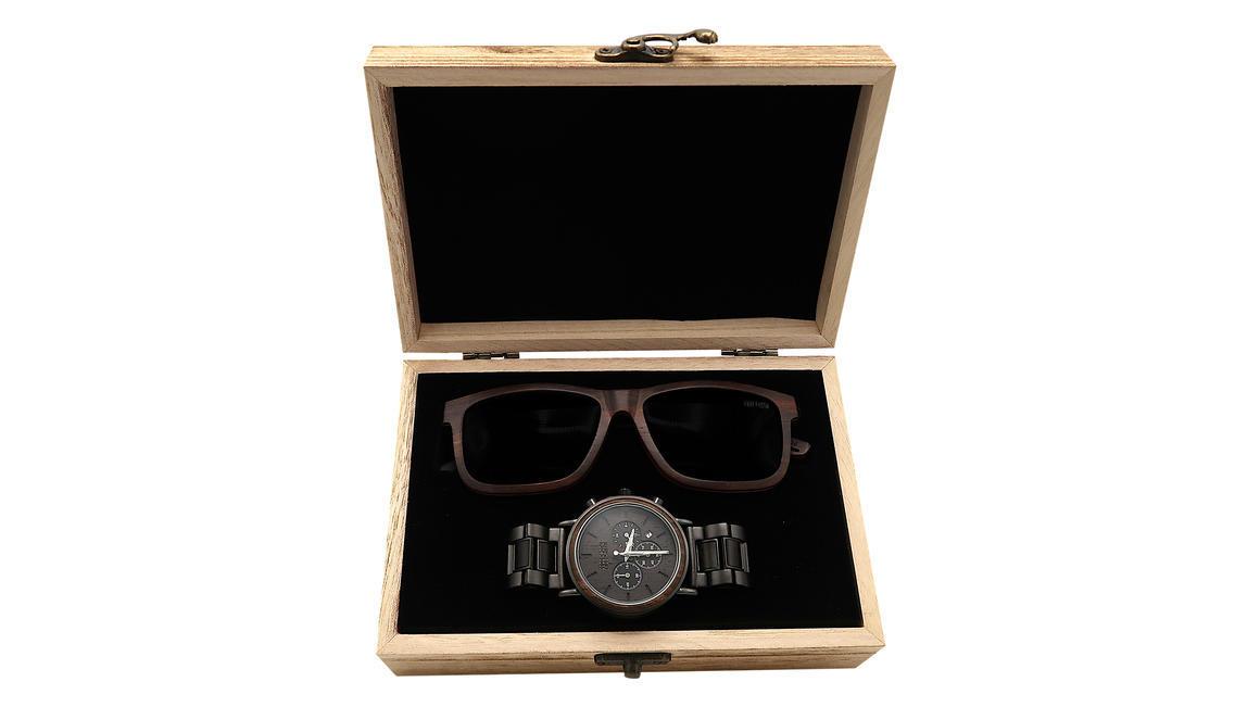 Wood Watch + Wood Sunnies combo 2 ( Skate + Triumph) | Trada Marketplace