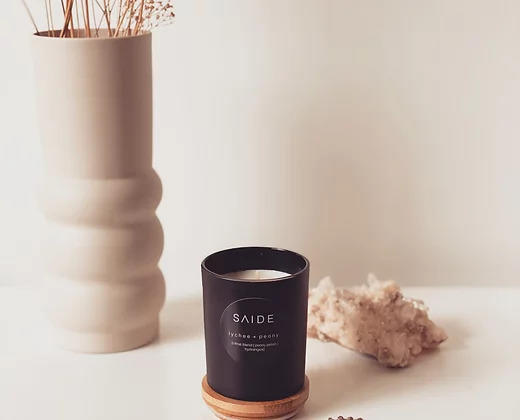 Saide Small Soy Candle [Matte Black Collection] | Trada Marketplace