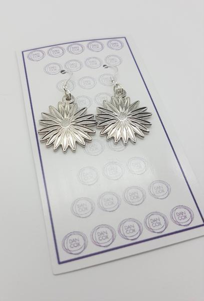 Daisy Silver Plate Alloy Earrings Stainless Steel Hooks  | Trada Marketplace