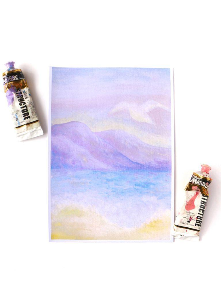 Pastel Beach Print | Trada Marketplace