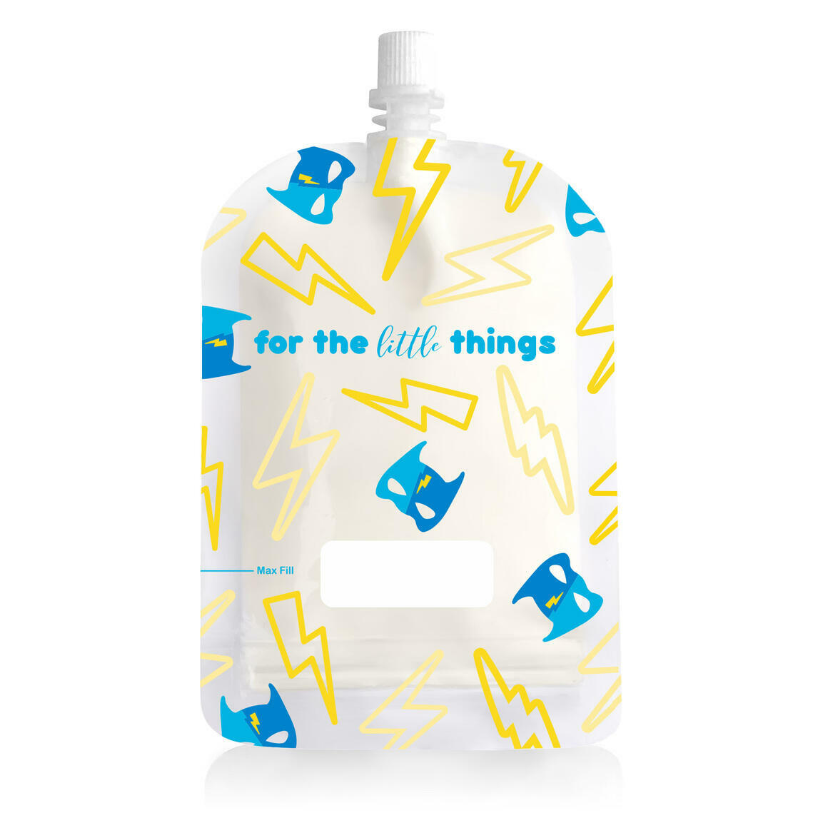 150ml Reusable Food Pouch - Lightning Print (10 pack) | Trada Marketplace