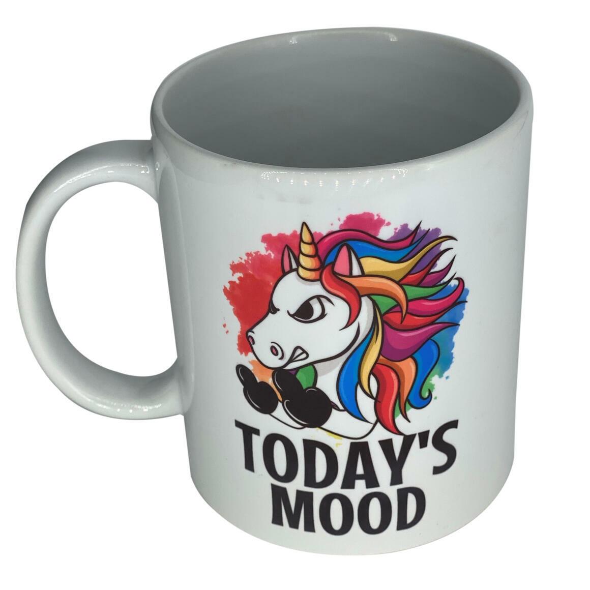 Unicorn - Todays Mood - Coffee Mug   Trada Marketplace