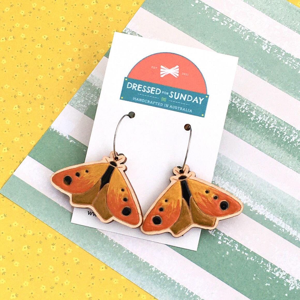 In the Garden Moth Earrings   Trada Marketplace