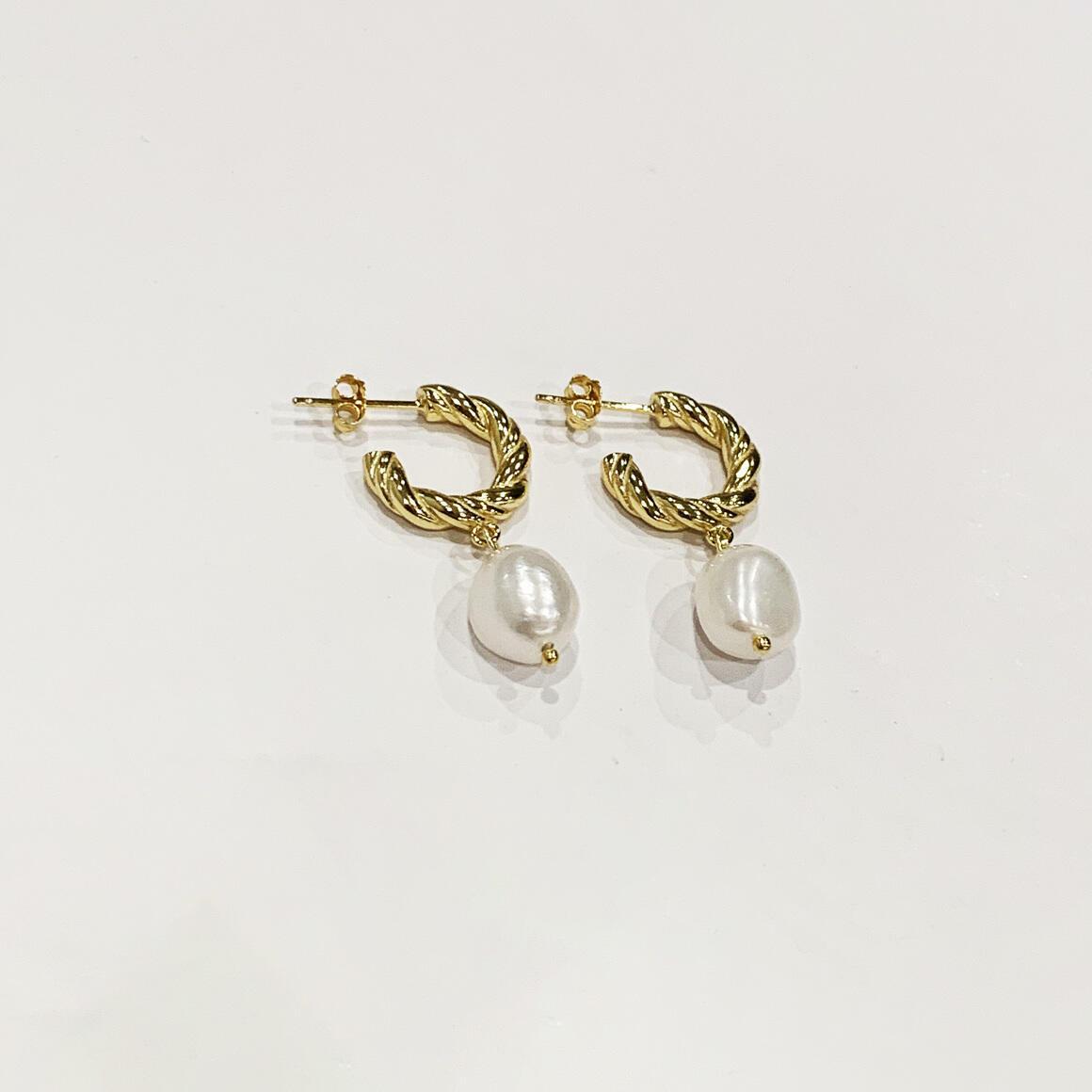 Croissant Pearl Earrings | Trada Marketplace