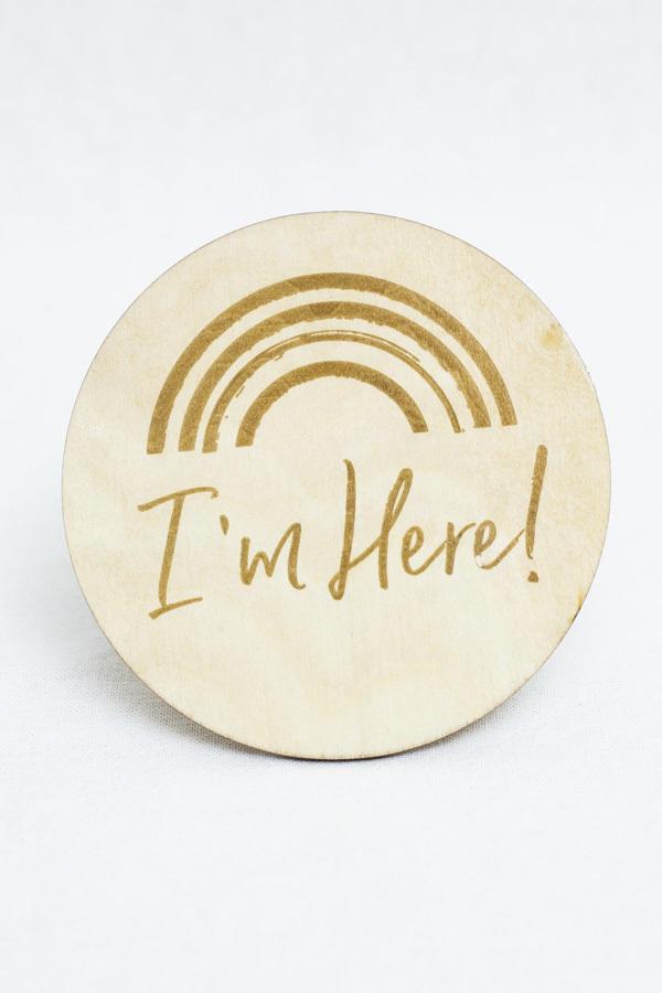 I'm Here Milestone Disc   Trada Marketplace