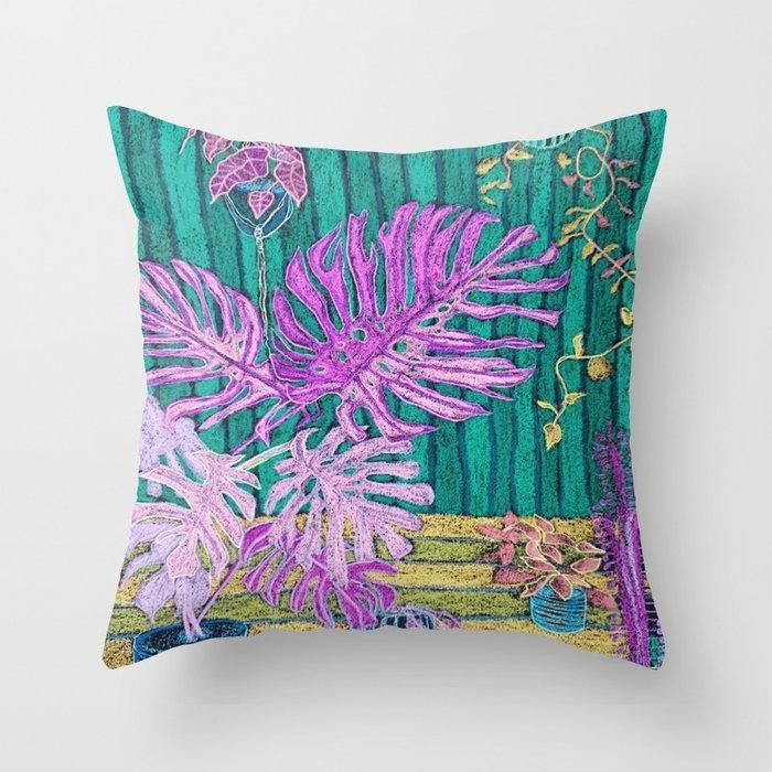 Indoor Jungle 8 Throw pillow  | Trada Marketplace