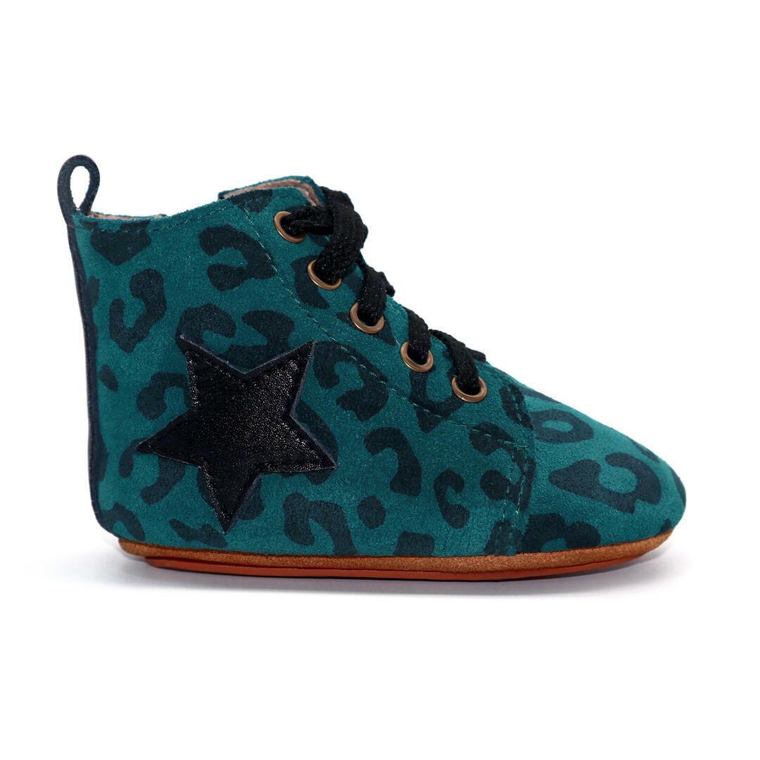 Seren baby hightop boot - Green Leopard | Trada Marketplace